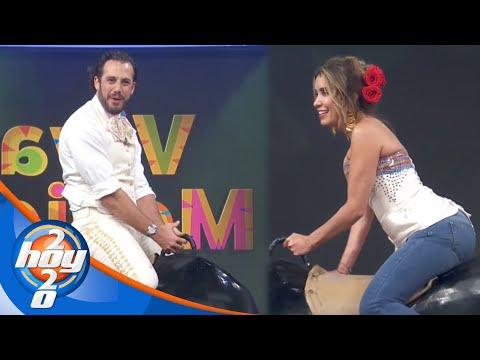 Andrea Escalona y Lambda García logran domar al toro con sus conocimientos de historia | Hoy