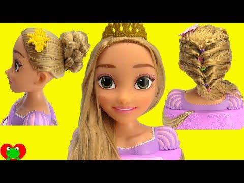 Princess Rapunzel Learn Hair Styles with Long Locks Style Head
