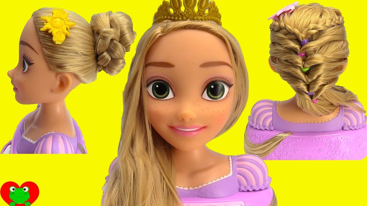 Disney Princess Rapunzel Learn Hair Styles With Long Locks Style Head Toy Genie Surprises