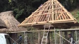 2016/1/28「奄美の高倉の屋根の葺き替え」大和村