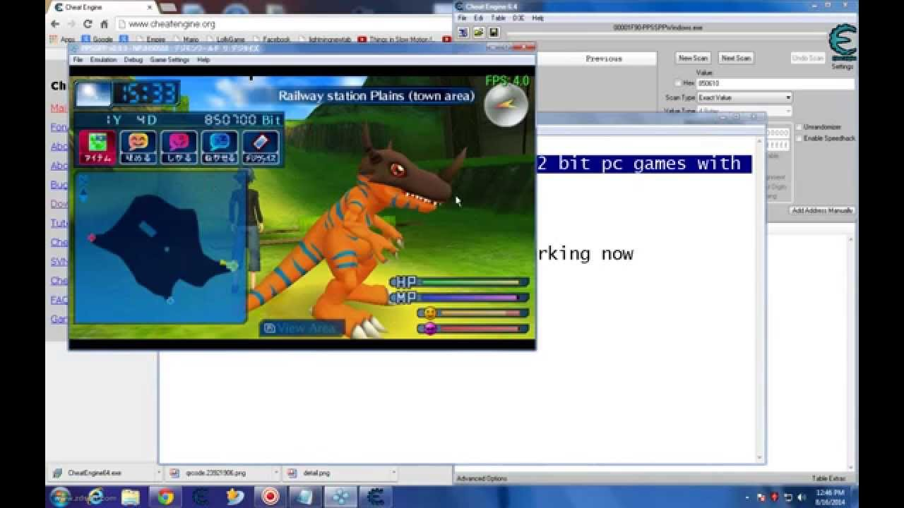 how to hack ppsspp 32 bits pc with cheat engine