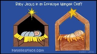 Baby Jesus Manger Envelope Craft Kids
