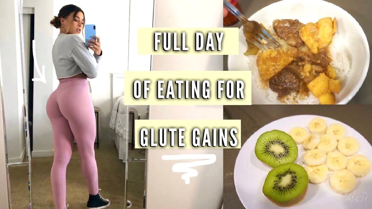 Realistic WHAT I EAT IN A DAY FOR BOOTY GAINS| VLOG