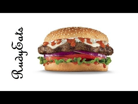Carl's Jr. Buffalo Blue Cheese Burger Review - RudyEats