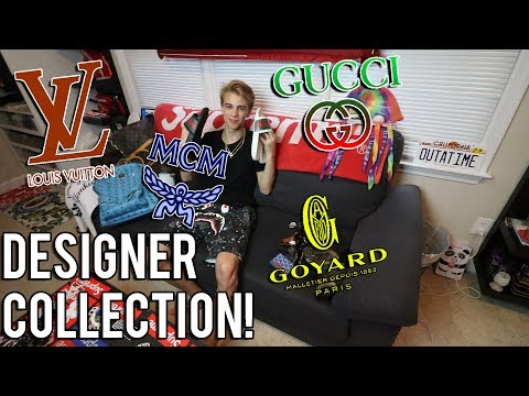 MY ENTIRE DESIGNER COLLECTION! (LOUIS VUITTON, GUCCI, ETC)