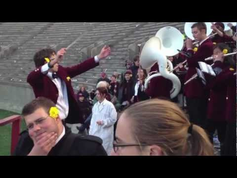 Harvard Band Celebrates 34-24 Victory Over Yale in The Game
