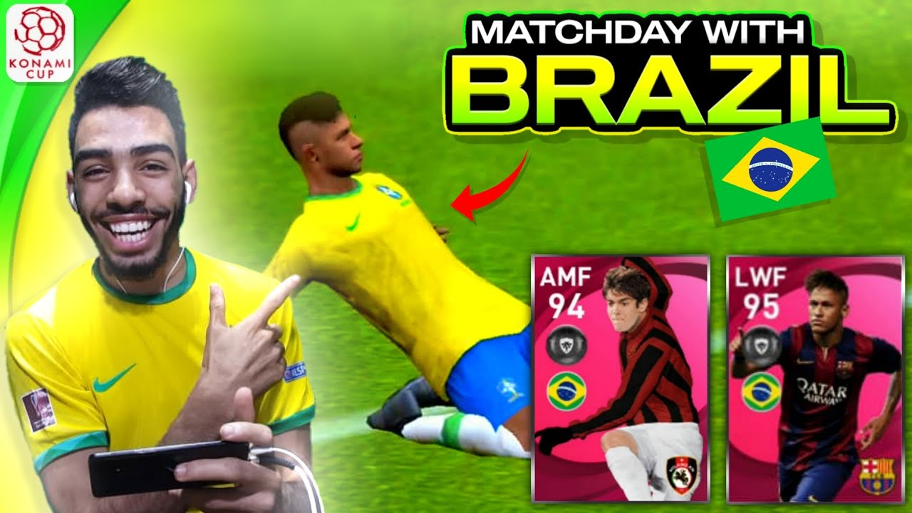 MATCHDAY USING BRAZIL 🔥 NEYMARZITOO  IS ROCKING 🔥 EFOOTBALL PES 2021 MOBILE