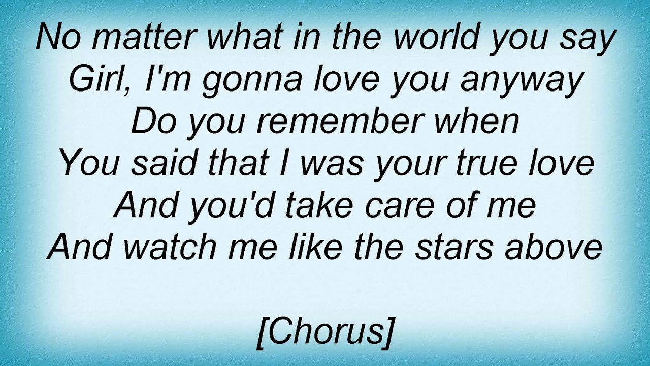 No Matter What Lyrics