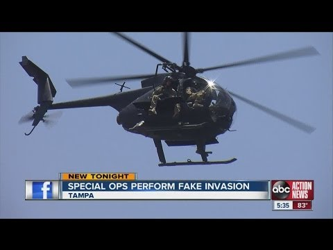 Special Ops Units Perform Exercises in Tampa