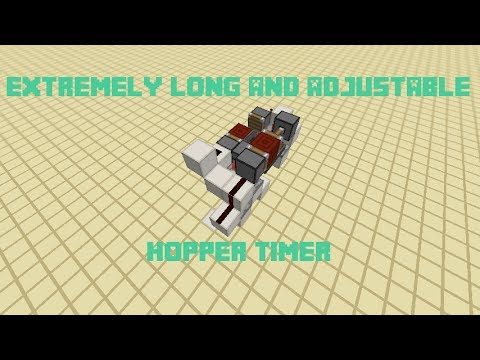 Extremely long and adjustable hopper timer - Minecraft 1 7 2