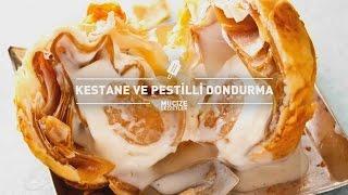 Kestane ve Pestilli DondurmaTarifi #mucizelezzetler