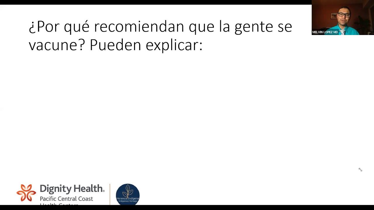 Discusión virtual sobre la vacuna de COVID-19 en español