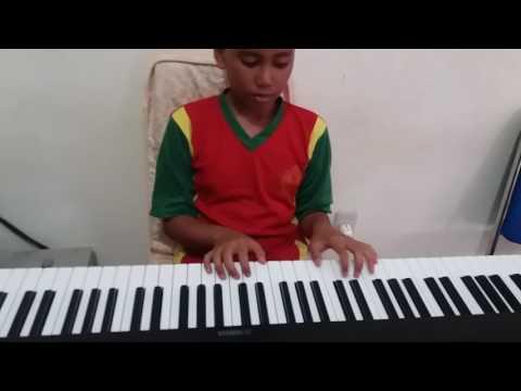 Cara bermain piano lagu bunda.