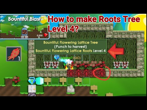 Roots Update! New Blast/Items + (How To Make Roots Tree Level 4?) - Growtopia