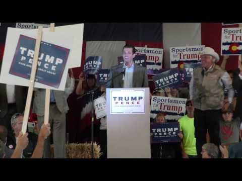 Don Trump Jr  Outdoor Sportsmen and Sportswomen Rally Grand Junction Colorado