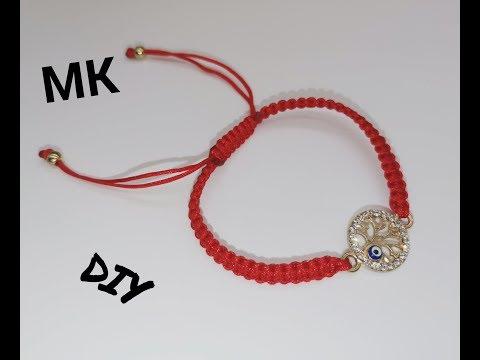 МК браслет с коннектором/касная нить