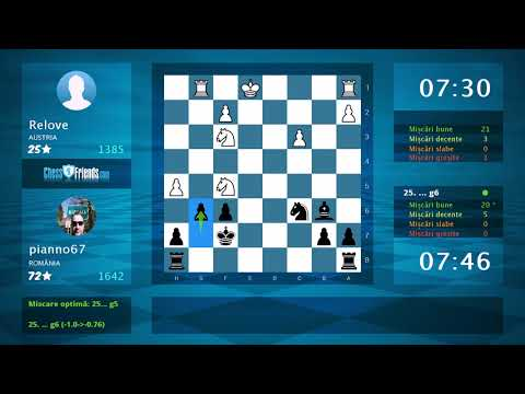 Chess Game Analysis: Relove - pianno67 : 0-1 (By ChessFriends.com)