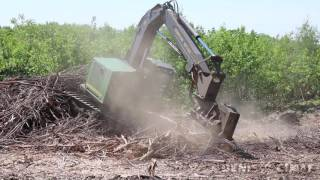 Slash Mulching - Powerline construction - DENIS CIMAF inc - DAH 150E - Industrial Forestry mulcher