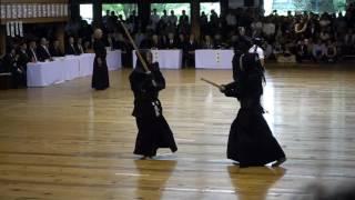 Kazuo Furukawa, Hachidan Kyoshi and above Kaoru Sumi Sensei, 113th Taikai, Kyoto, May 5th 2017