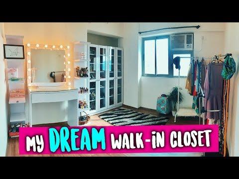 My DREAM CLOSET 2018   Indian walk-in closet