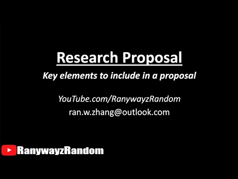 Writing a research proposal - YouTube