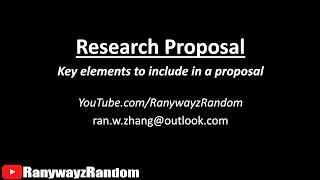 How To Write A Research Proposal? 11 Things To Include In A Thesis Proposal