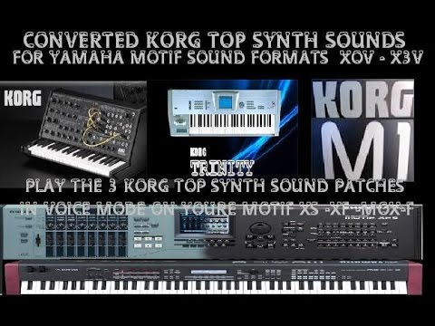 Yamaha motif converted korg top synths sound patches demo for Yamaha motif sounds download free
