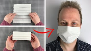 How to make Face Mask using material and hair ties S M L sizes