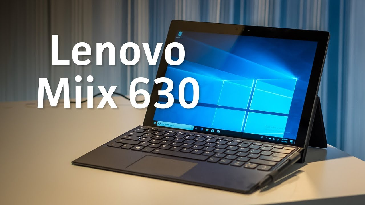 Lenovo Miix 630 sports a Snapdragon processor