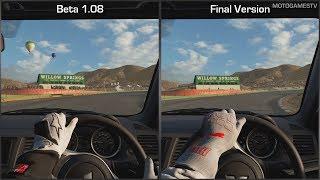 Gran Turismo Sport - Beta 1.08 vs Final Version - Mitsubishi Lancer Evolution at Willow Springs