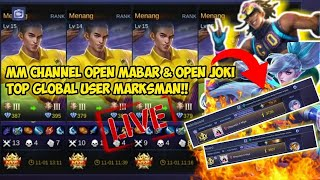 USER MARKSMAN !PUSH MYTHIC GLORY 3000 POINT  [LIVE] MOBILE LEGENDS BANG BANG