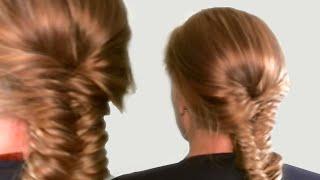 Коса Рыбий Хвост| Прическа Колосок| Мастер Класс| French Fishtail Braid for Medium Hair Tutorial