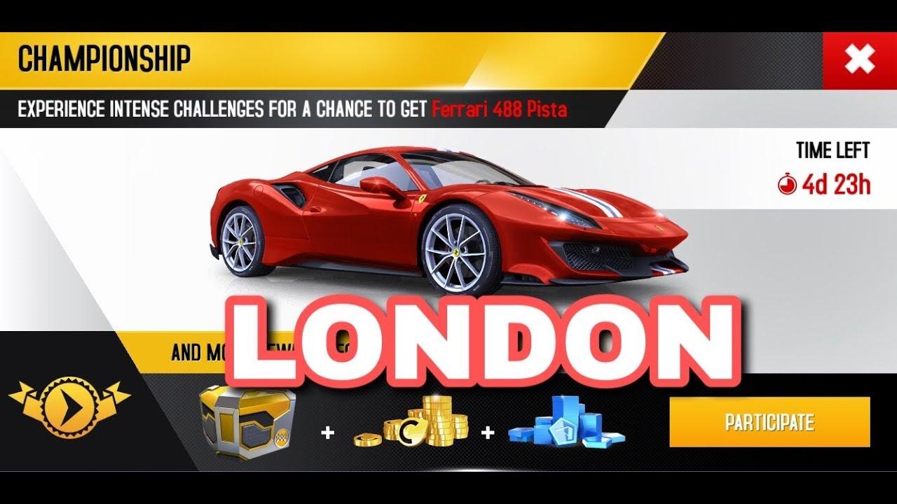 Asphalt 8 Ferrari 488 Pista Championship London All Goals Youtube