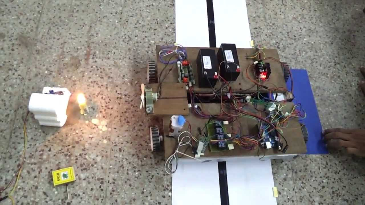 Automatic fire fighting robot youtube