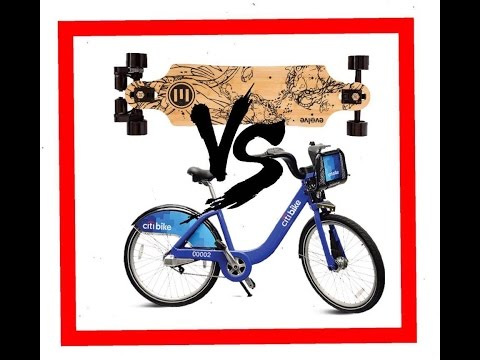 ELECTRIC SKATEBOARD VS CITYBIKE RACE  YouTube