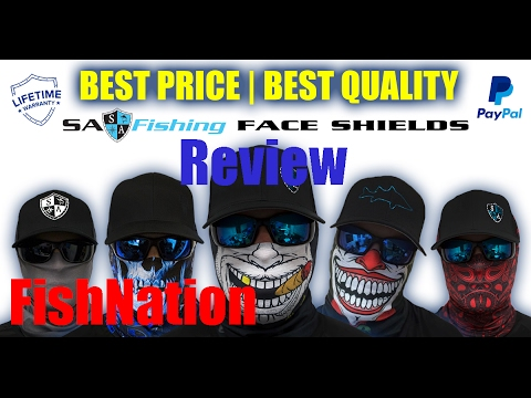 sa fishing face shield review youtube