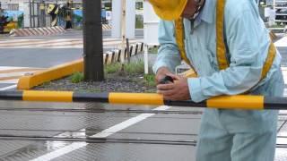 踏切復旧工事の様子 ~新棒取付~ thumbnail