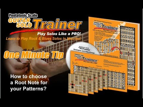 Choosing Root Notes, Pentatonic Scale Guitar Solo Trainer
