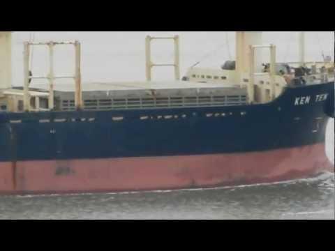 Ken Ten bulk cargo ship transiting Carquinez Straits