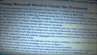 Video Explaining FREE Microsoft Word Converted to Pure HTML Using Excel Formulas & VBA