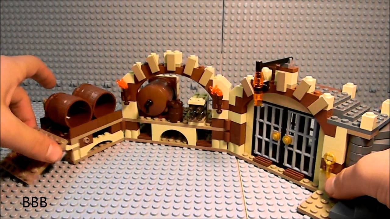Lego 79004 Lord Of the Rings Barrel Escape Review (LOTR) The Hobbit - YouTube
