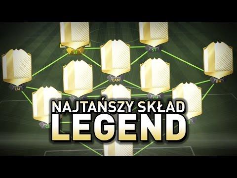 FIFA 17 - Najtańsza drużyna legend!