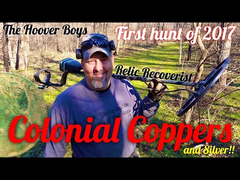 Metal Detecting a 1700's Trading Post #110 Colonial Coppers