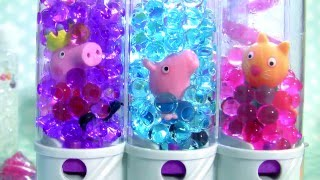 Pig George & Peppa Pig Swimming in Pool Orbeez Learn Colors with Orbeez Magically Grows in Water