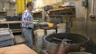 Часть 2. Технология производства тротуарной плитки, брусчатки методом вибролитья. Заливка форм.(Технология -