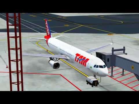 🔴 FSX - SBBR-SBSG - Voo entre Brasília e Natal - Airbus A321-231 TAM VIRTUAL
