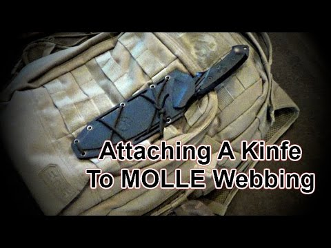 Attaching A Knife To MOLLE Webbing