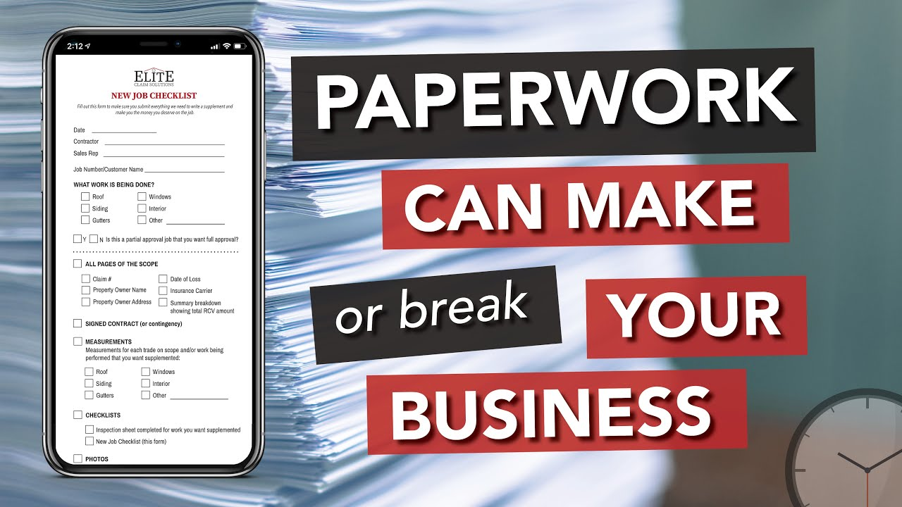 Paperwork Can Make or Break Your Jobs