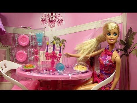 Barbie Glam Dining Room Furniture Doll Set