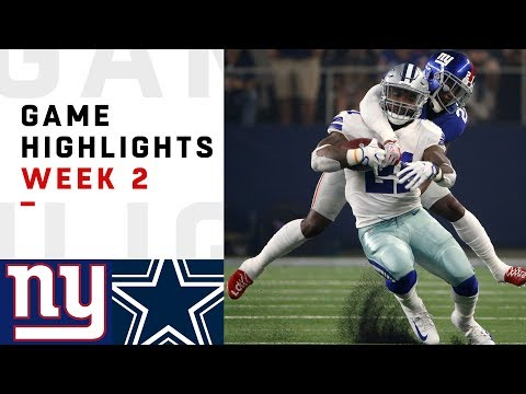 Giants vs. Cowboys Week 2 Highlights | NFL 2018 letöltés
